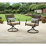 Better Homes and Gardens Lynnhaven Park Swivel Chairs, 2pk