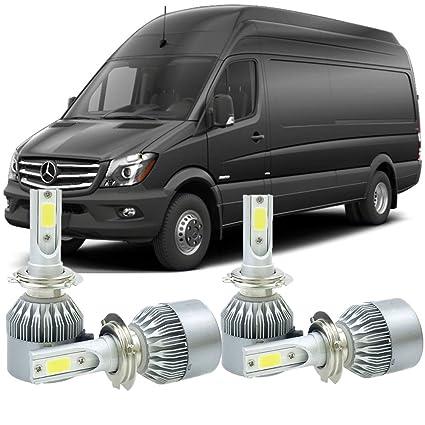 Amazon com: H7 LED Headlight Kit Bulbs For Mercedes Benz