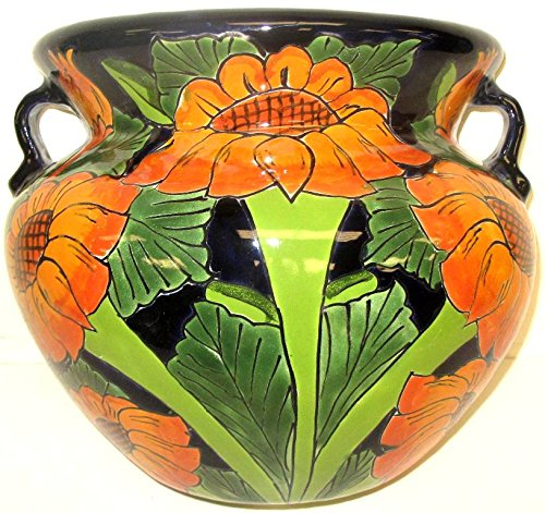 TALAVERA PLANTER (X-LARGE, SUNFLOWERS) by Talavera Pottery Store