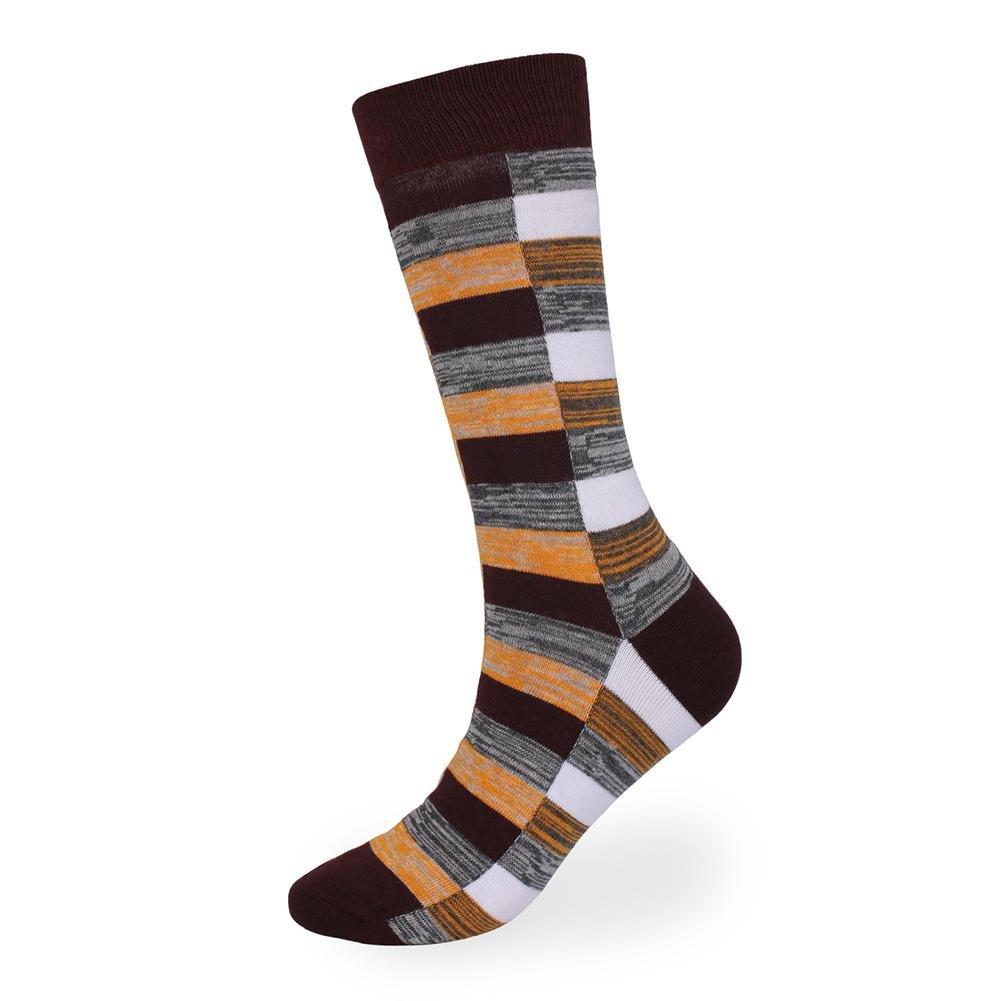 5 paia di calze di deodorante per uomo in cotone scozzese più lungo Lmzyan