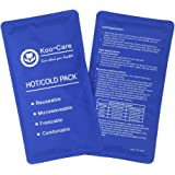 """Koo-Care Flexible Gel Ice Pack for Hot Cold Therapy - Set of 2 - Great for Migraine Relief, Sprains, Muscle Pain, Bruises, Injuries (Medium, 11"""" × 5.9"""")"""