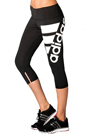 ad760a0e98 adidas Performance Women's Logo 3/4 Cropped Gym Leggings