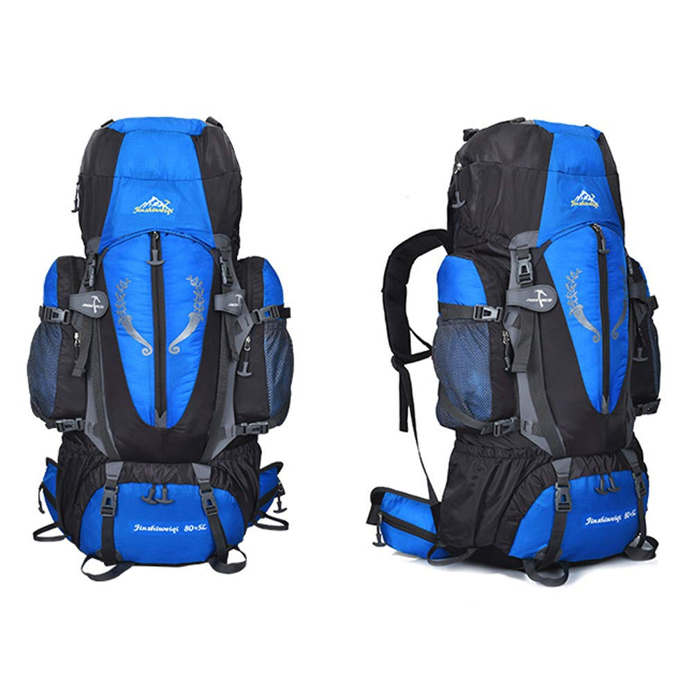 XGao Camping 85L Mountaineering Backpack Bag Hiking Outdoor Travel Rucksack Bags New (Blue) by XGao