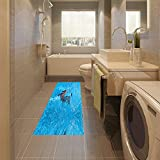 3D (dolphin) to study non-slip resistant floor kitchen decal (120x60cm)