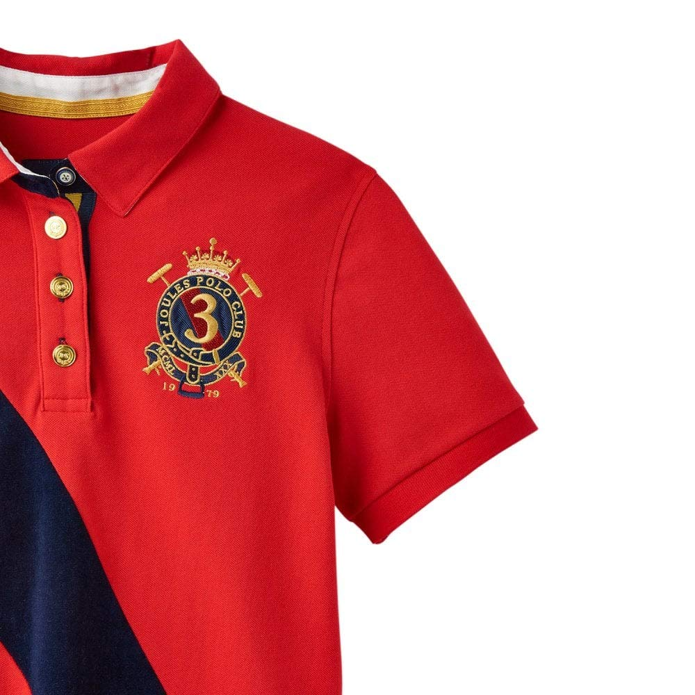 SS19 Nelson Red 10 Joules Claredon Polo Shirt