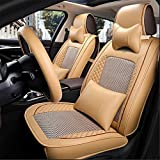 YAOHAOHAO 10 pcs programmable ice silk car seat covers automotive leather seat cushion for universal 5 car seat four seasons