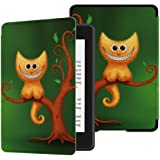Huasiru Painting Case for All-New Kindle Paperwhite (10th Generation-2018 Only - Will Not fit Prior Generation Kindle Devices), Cheshire Kitten