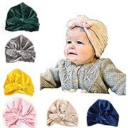 CaJaCa Newborn Baby Toddler Cotton Hat Babys Turban Kids Knotted Hat Cap Set (KL01)