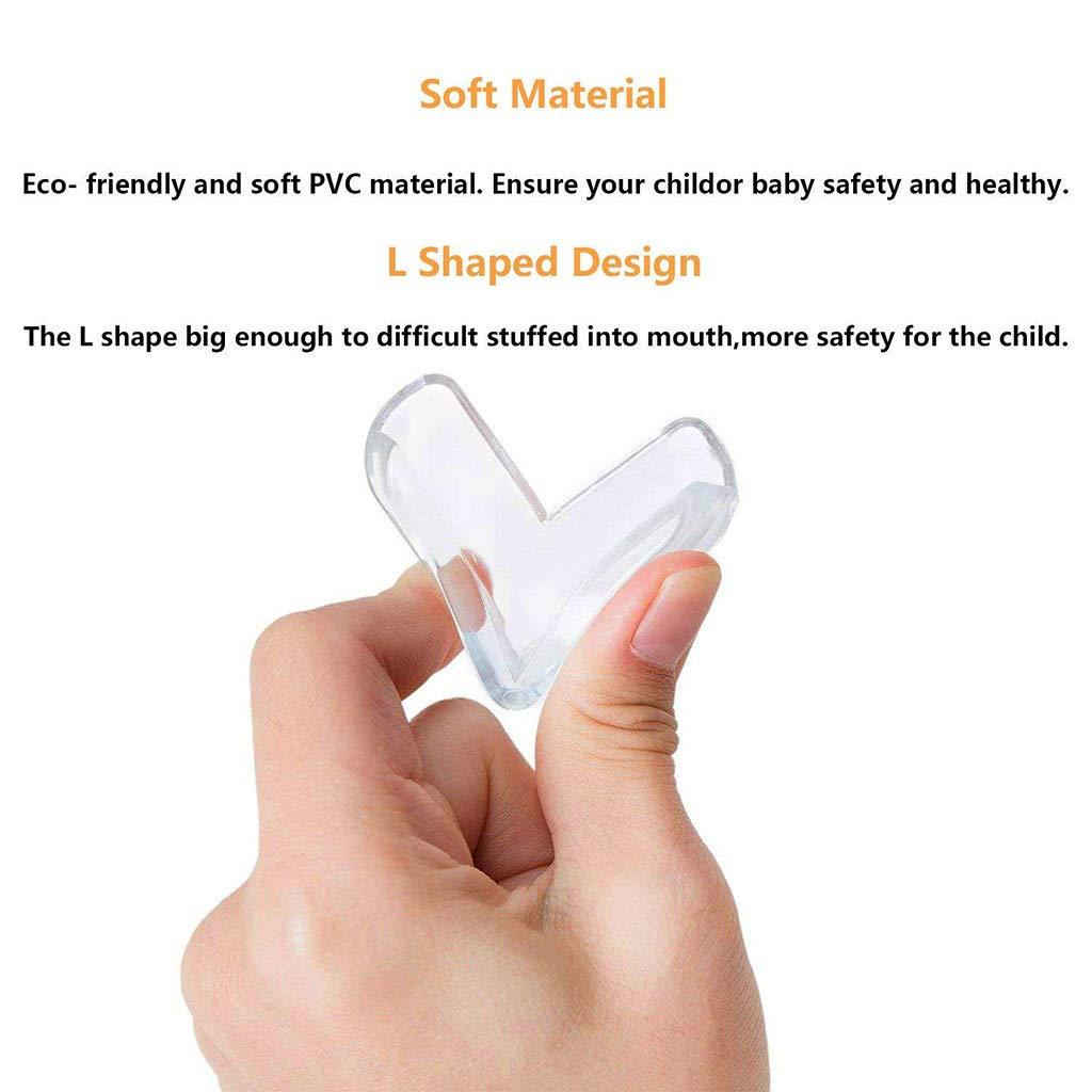 12PCS Protector de beb/é WARMWORD Protecciones para Esquinas Protectores de Esquina de Seguridad Soft Sin Olor Protectores de Esquina de Mesa para beb/és y ni/ños