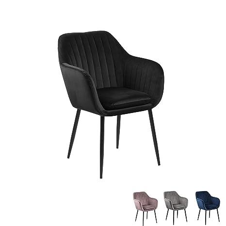 Nimara Sillas de Terciopelo reposabrazos, sillón de diseño ...