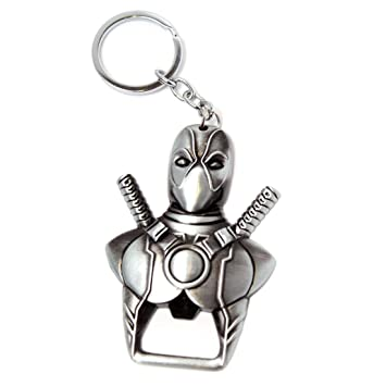 Llavero de plata abrebotellas de Marvel Deadpool