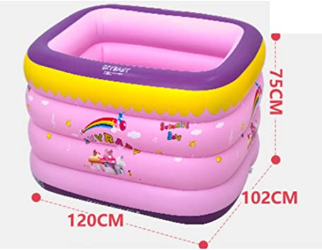 Piscina inflable del bebé para niños Piscina Rosa Baby swim familia ...