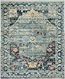 Safavieh Crystal Collection CRS503D Teal and Purple Distressed Area Rug (8' x 10')