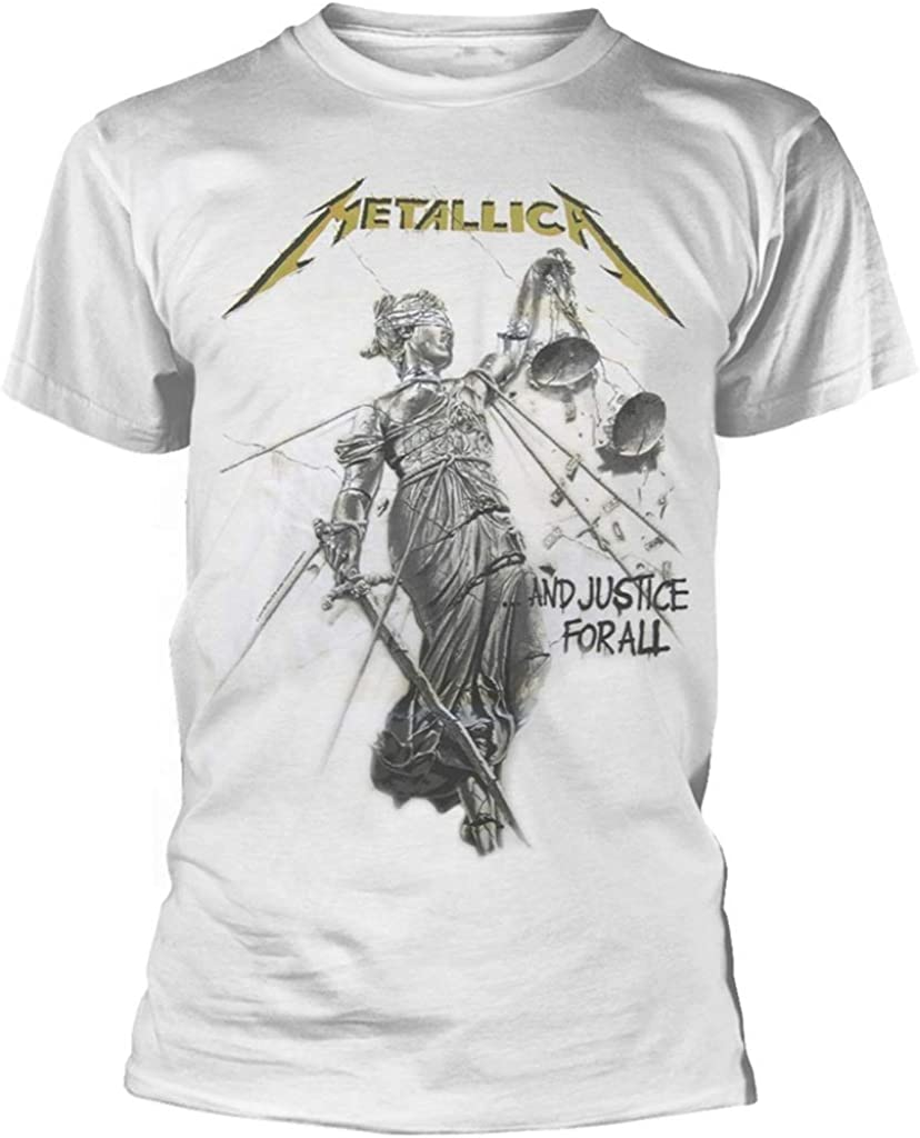 Metallica and Justice For All (White) T-Shirt (Small): Amazon.es: Ropa y accesorios