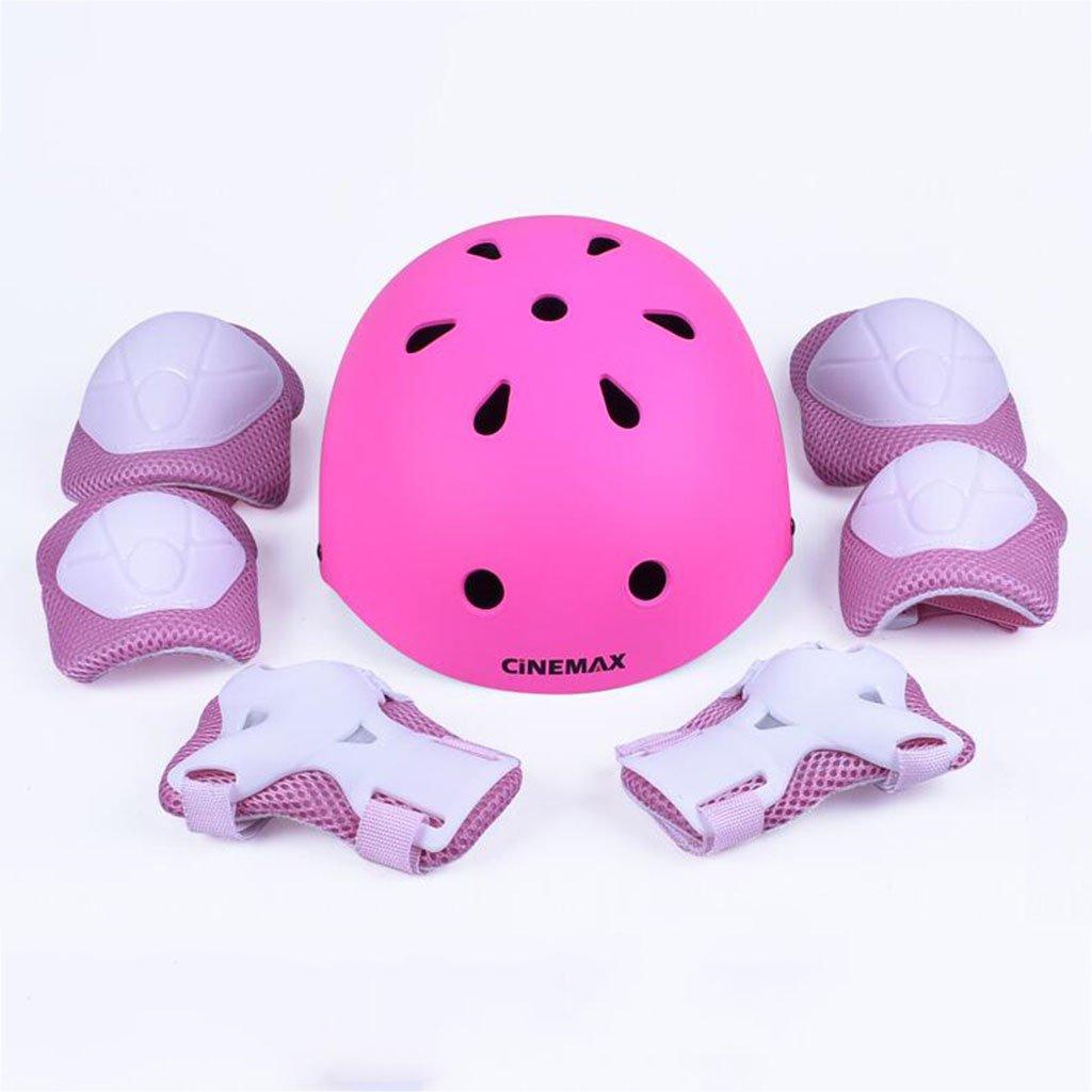 QZ HOME Kinder Reiten Übung Roller Schuhe Schlittschuhe Einstellbar Helm Schutzausrüstung Set