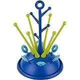 Samber Égouttoir Biberon Sèche Biberon Support Détachable Arbre à Biberon Nettoyage, bleu