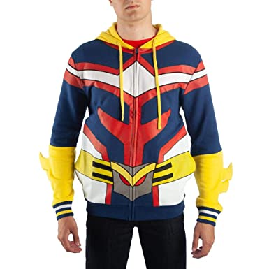 Amazon Com Bioworld My Hero Academia All Might Hoodie Clothing