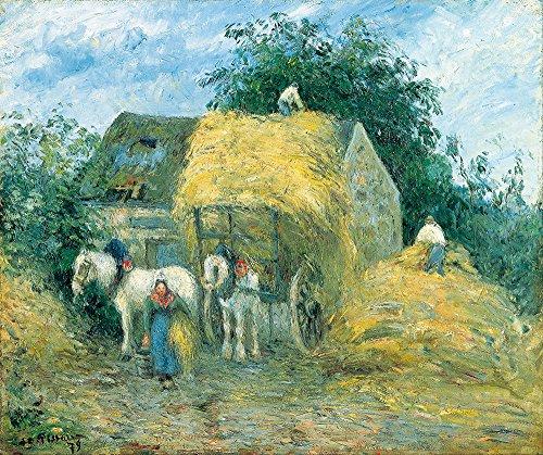 9555 Oil (Camille Pissarro - The Hay Cart Montfoucault - Small - Matte Print)