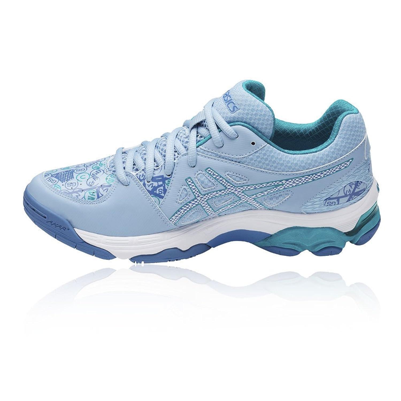 Asics Nouvelle Gel-Netburner Academy 7 Men 's Netball Shoes Sports, Bleu,3.5