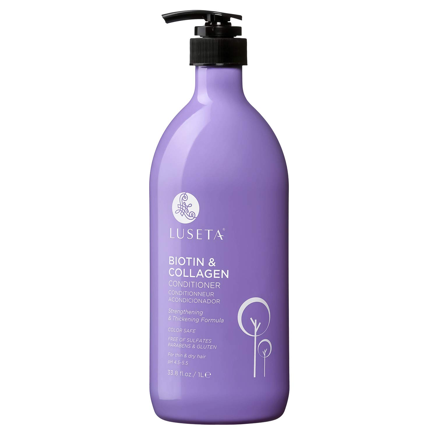 Luseta Biotin & Collagen Conditioner Thickening for Hair Loss & Fast Hair Growth - Infused with Argan Oil to Repair Damaged Dry Hair - Sulfate Free Paraben Free 33.8oz