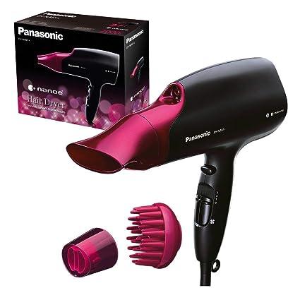 Panasonic EH-NA65-K825 Secador de pelo con tratamiento para más brillo y mayor hidratación para tu cabello gracias a la tecnología nanoe(2000 W/ 3 ...