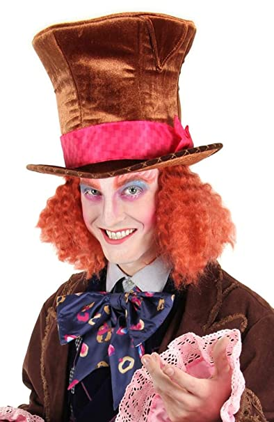 Clothing, Shoes & Accessories Disney Alice in Wonderland Adult Deluxe Mad Hatter Costume Hat By Elope
