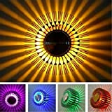 AMA(TM) RGB Remote Control Spiral Wall Sconce Ceiling Light 360 Degree Beam Angle Modern Decorative Lamp Great For Party, Bars,Home, Hotel, Office (Silver)