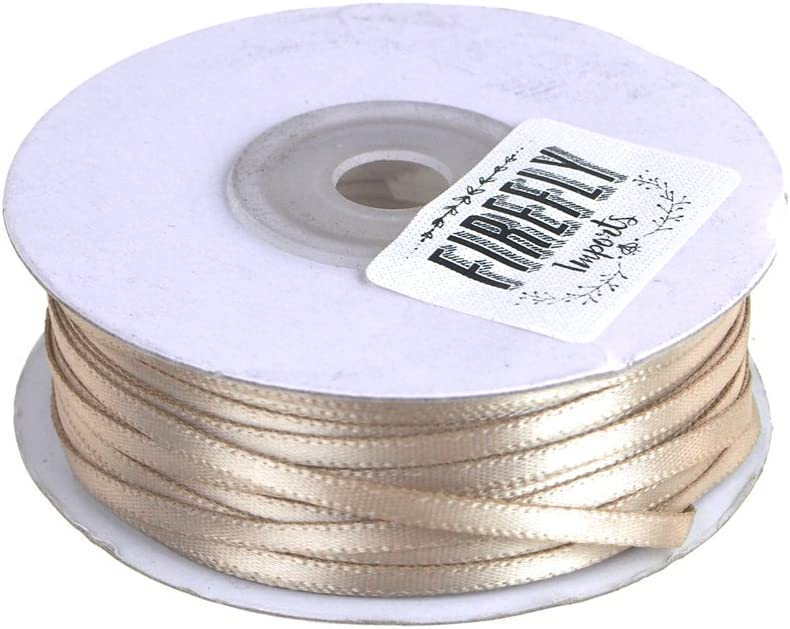 1//16 Red Homeford FCR00PSD01161250 Double Faced Satin Ribbon