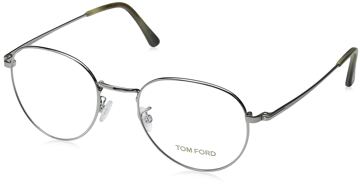 c68cb265a1 Tom Ford Eyeglasses TF 5328 Eyeglasses 012 Dark gunmetal with beige horn  51mm at Amazon Men s Clothing store