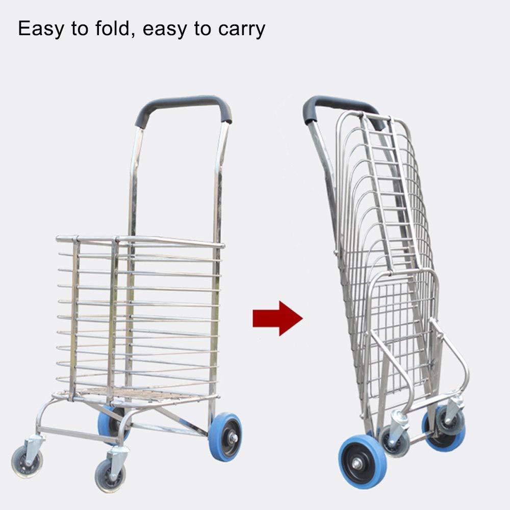 6d4ac789bddd ZSLLO Shopping Trolley with 4 Wheels Shopping Trolley with Wheels ...