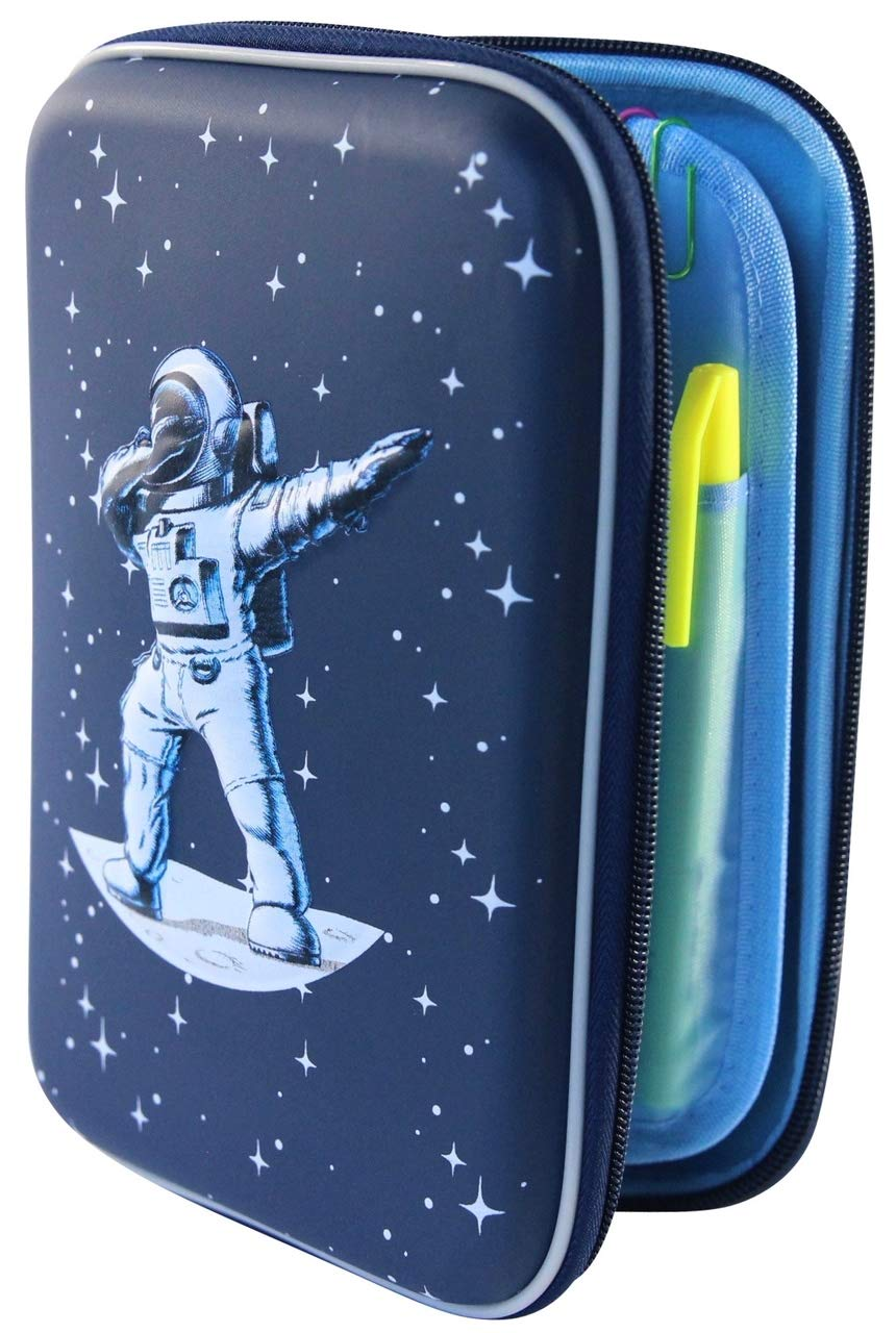 Galaxy Space Pencil Case Box Holder Pen Bag -3D Hard Shell Large Capacity Dabbing Spaceman Astronaut | Lime & Lane Galaxy School Set by Lime and Lane