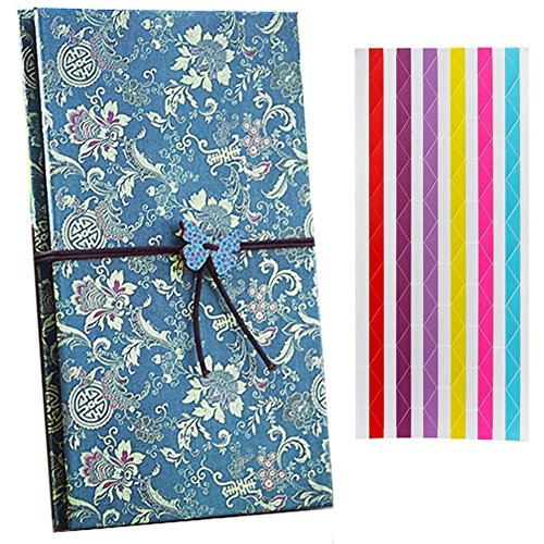 Creative Retro Scrapbooks Photo Albums - BGOING Cloth Hardcover Kraft Paper Folding Picture Holders for Holding Up to 4 x 6 Inch Photos DIY Sketchbook ,Polaroid Films Photos,fujifilm Instax Picture