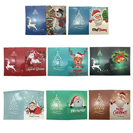2 Packs DIY 5D Diamond Painting by Number Kits Santa Claus Writing and Giving Gifts, 11.8 15.7inch Crystal Rhinestone Embroidery Pictures Arts Craft for Home Wall Decor Gift