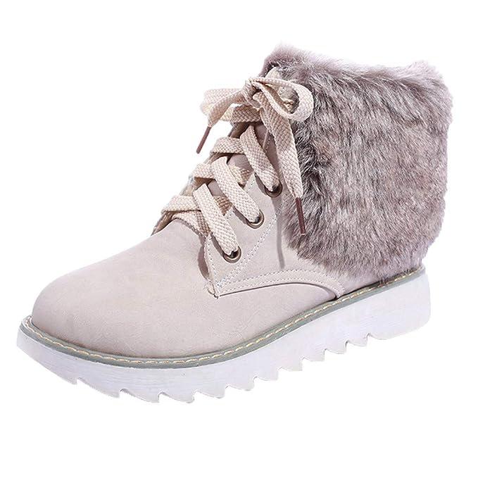 MYMYG Black Friday Mujer Botas de Nieve Plataformas Zapatillas de Deporte Botas de Tobillo de Invierno Botas de algodón cálido: Amazon.es: Ropa y accesorios