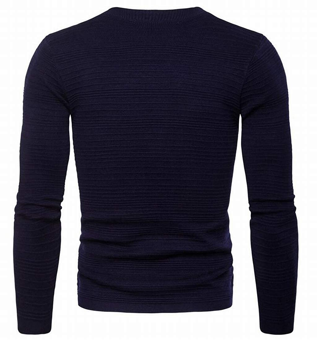 Pivaconis Mens Basic Solid ColorLong Sleeve V-Neck Front Button Cardigan