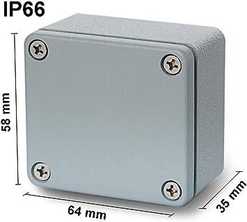 EDI-TRONIC carcasa caja recinto industrial vacío en aluminio 64x58x35mm FA1 IP66: Amazon.es: Bricolaje y herramientas