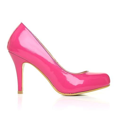 PEARL Zapatos de Salón Clásicos Tacón Alto Piel Charol PU De Charol Piel Rosa 245c81