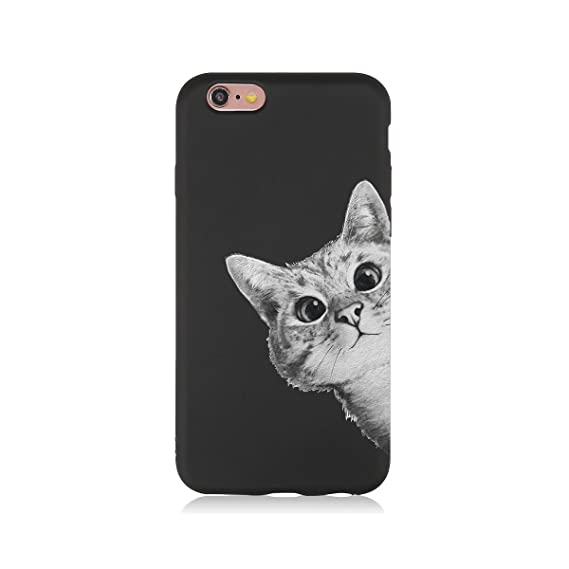 buy online f9c69 5624f iPhone 6s case, Shockproof, Scratch, Protective Cover, iPhone 6 / 6s 4.7in,  Art, Cats, Stylish, Cover case (Black line005)