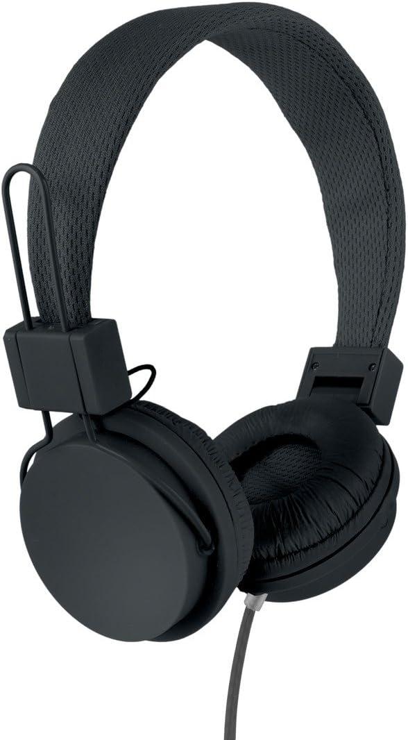 Vivitar VIV-1052-BLK Foldable Dj Mixer Headphones, Black