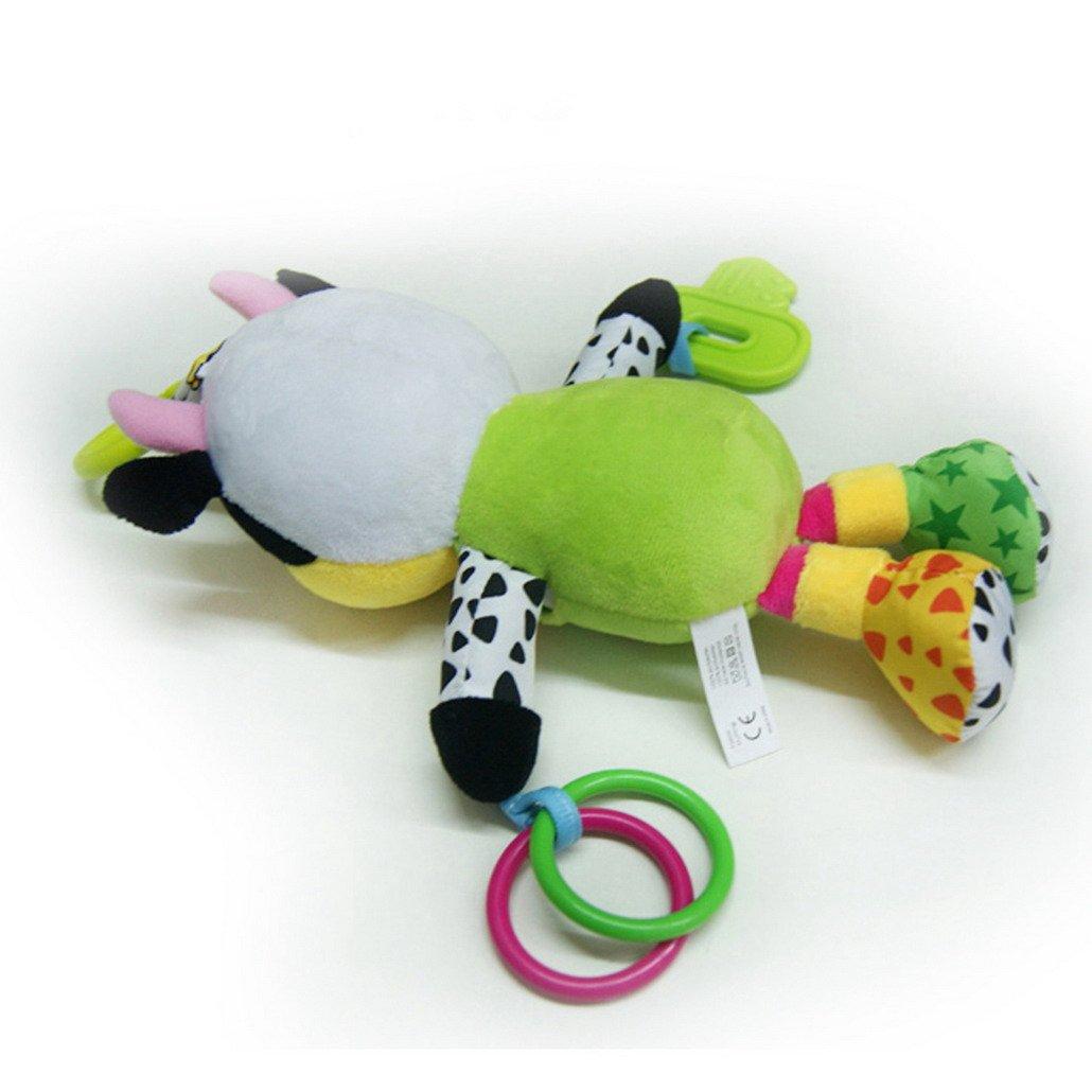 Vache Happy Cherry Bo/îte /à Musique d/éveil Hochet musique en peluche avec cl/é de dentition