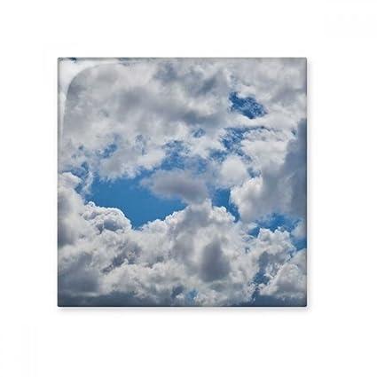 Ciel Bleu clair Blanc nuages en céramique Bisque carrelage ...