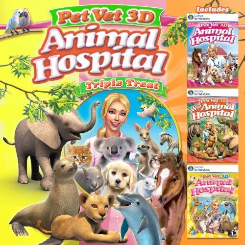 Pet Vet Animal Hospital Triple Treat 3 Complete Games In 1 Buy
