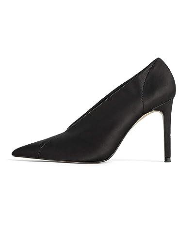 Décolleté Chaussures Zara En V Femme 1243001 Satin À Avec Talons wOPnX80k
