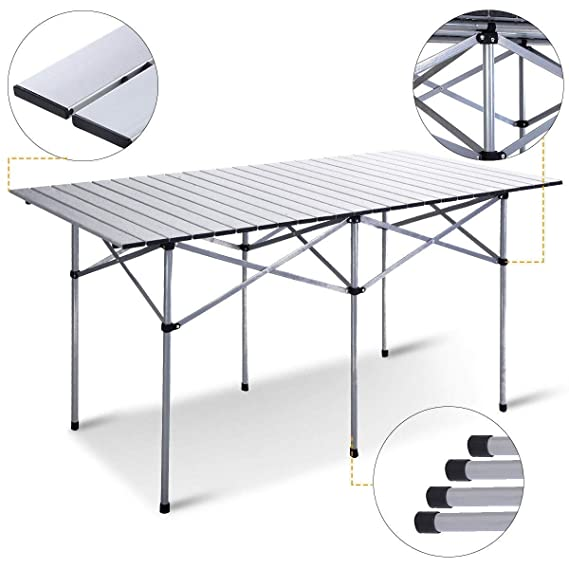 Amazon.com: Aluminum Roll Up Folding Camping Rectangle ...