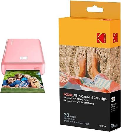 Kodak Mini 2 Hd Wireless Mobile Instant Fotodrucker W Kamera