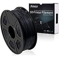 SUNLU 3D Printer Filament PLA Plus, 1.75mm PLA Filament, 3D Printing Filament Low Odor, Dimensional Accuracy +/- 0.02 mm, 2.2 LBS (1KG) Spool 3D Filament for 3D Printers & 3D Pens, Black PLA+