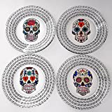 Spanish Sugar Skull Hand Painted Dinnerware Set