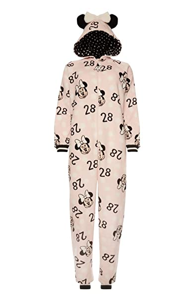 Minnie mouse pijama ropa de dormir con capucha rosa Mickey/Pink S