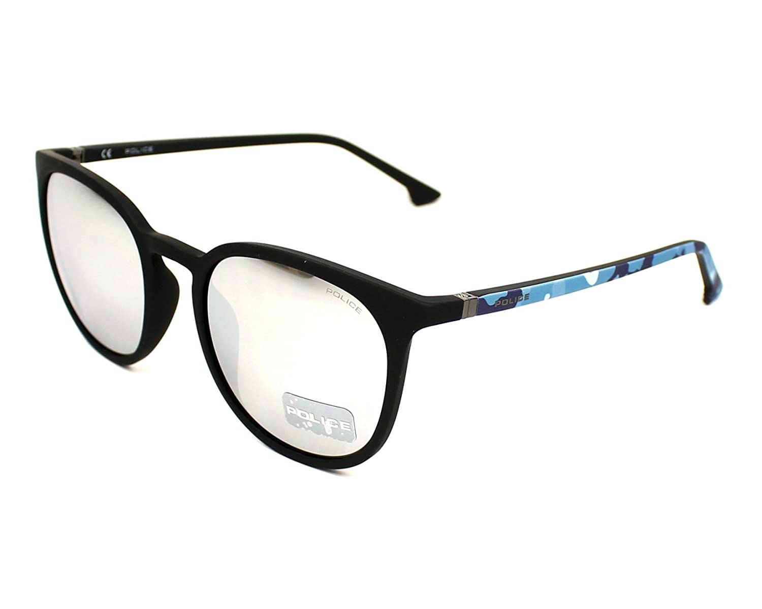 Amazon.com  Police Jungle 2 SPL343 6AAX (Matt Black - Blue print with Grey  with Silver mirror effect lenses)  Clothing ae4aa2a49b
