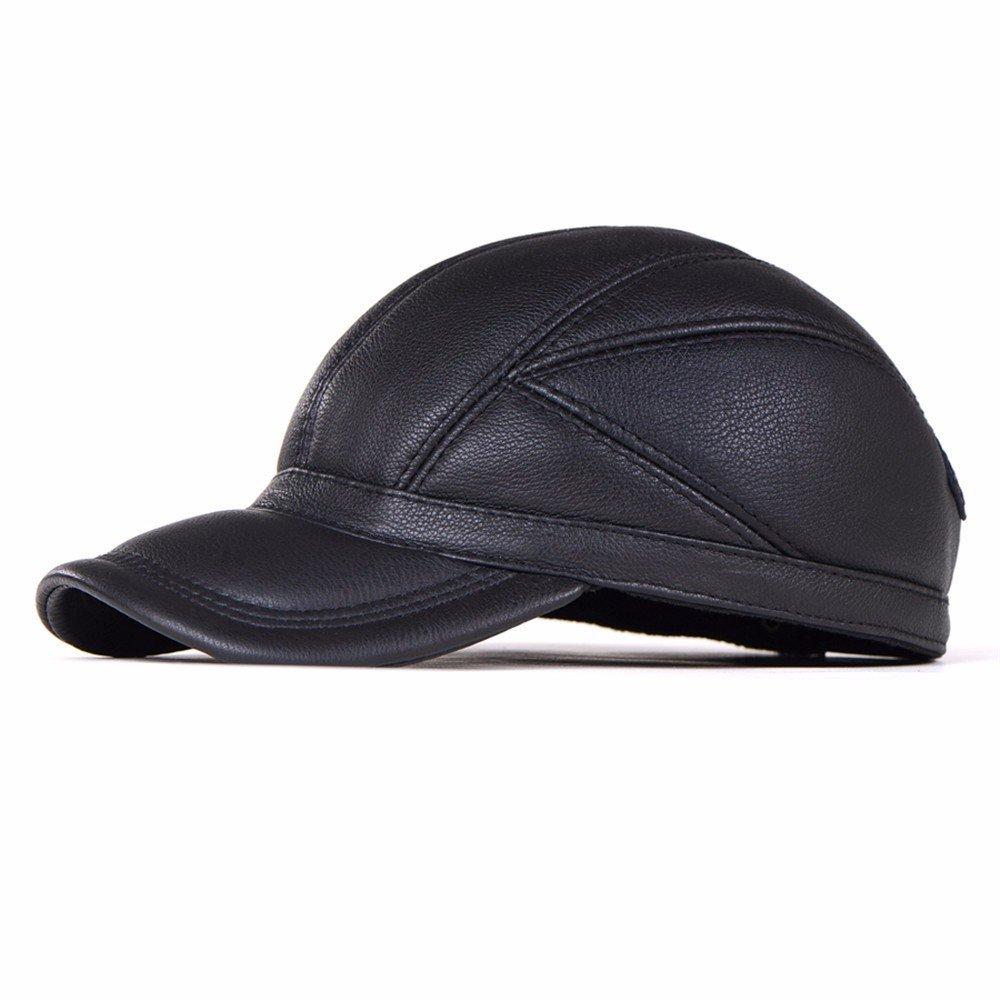 Berretto da baseball uomini inverno hat uomini casual inverno Cappello in cuoio maschio cappuccio ca...